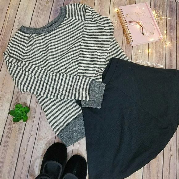 Victoria's Secret Tops - Victoria's Secret striped terry sweatshirt